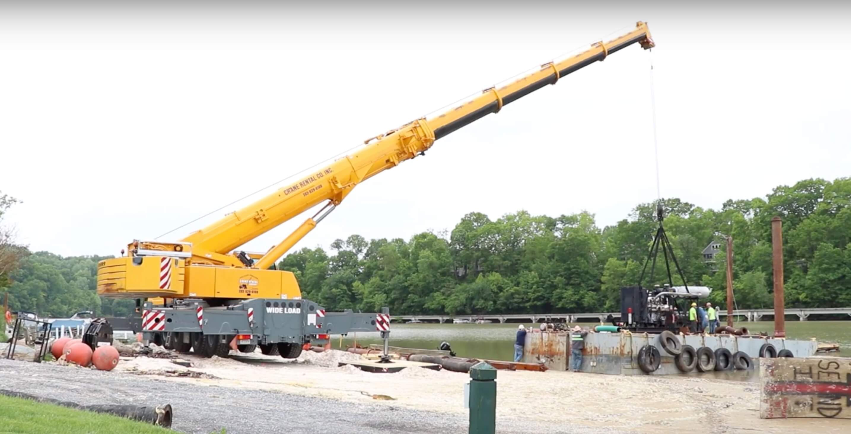 Lake Linganore Dredging - Mobile Dredging Video Pipe